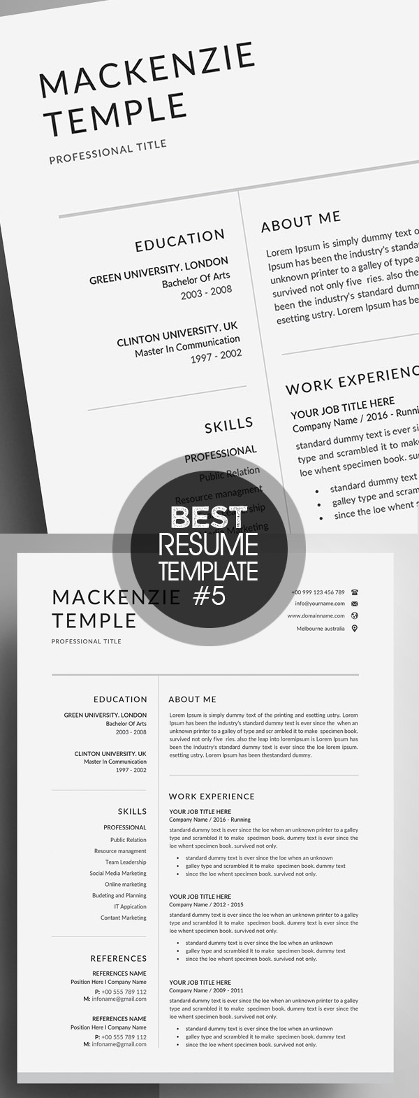 Resume Template | CV + Cover Letter