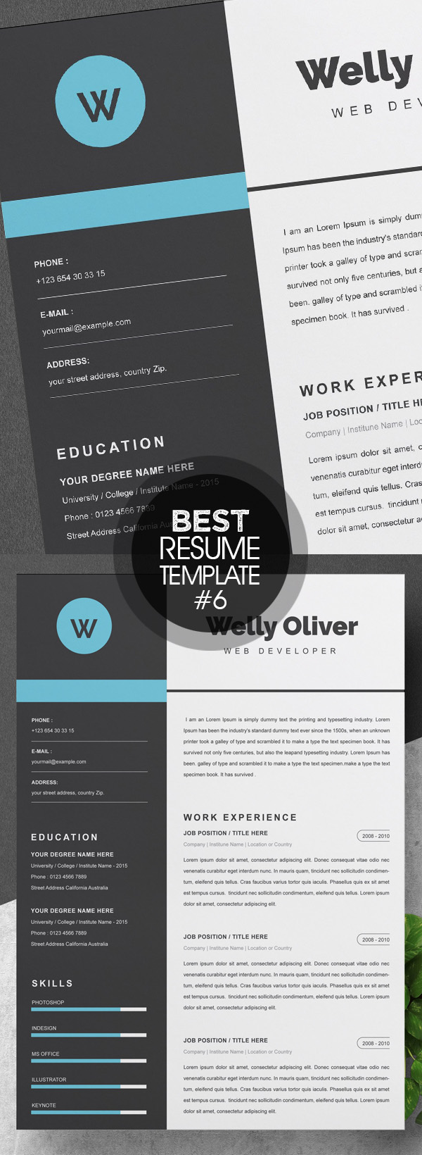 Word CV Template | Resume Template
