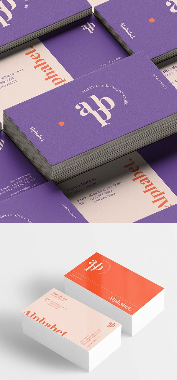 Alphabet - Business card template