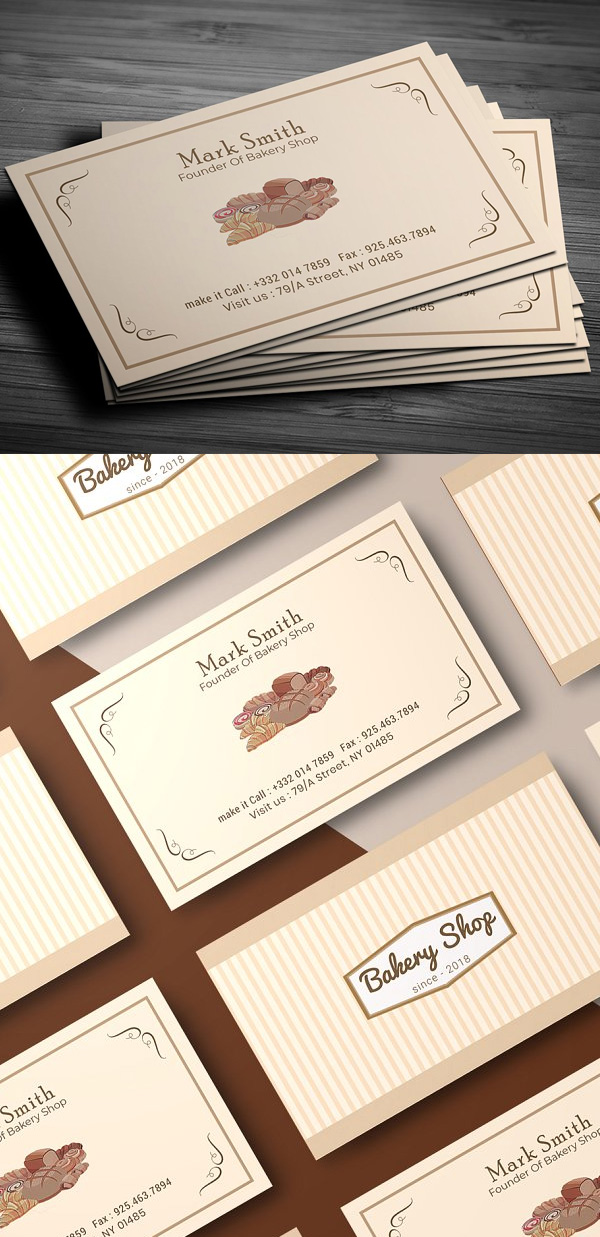 Bakery Shop Business Card Template