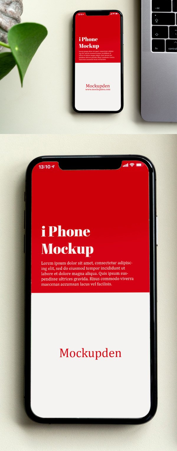 Free iPhone mockup PSD template