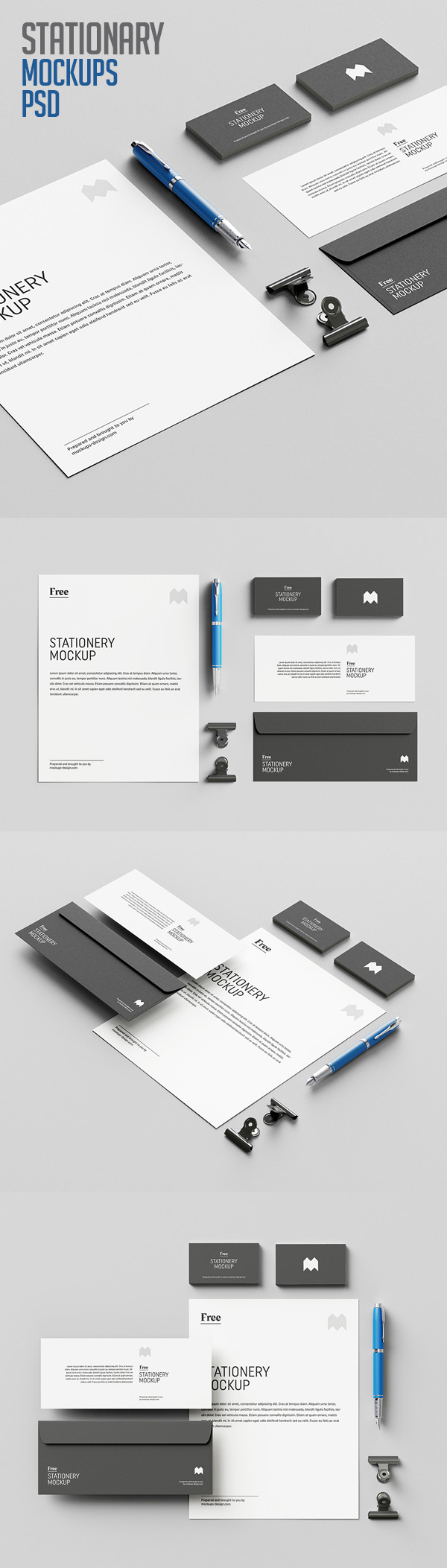 Free Stationary Mockups PSD