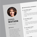 Post Thumbnail of Free CV / Resume Template PSD