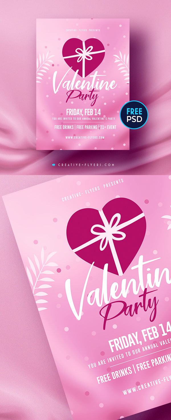 Free Flyer PSD for love and Valentine's Day