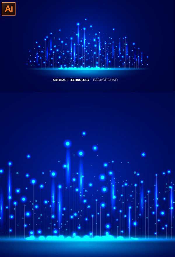 How to Design Abstract technology background design in illustrator
