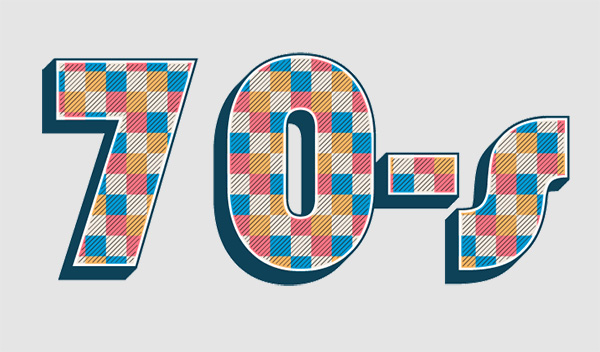 How to design 70-s retro text effect in Adobe Illustrator