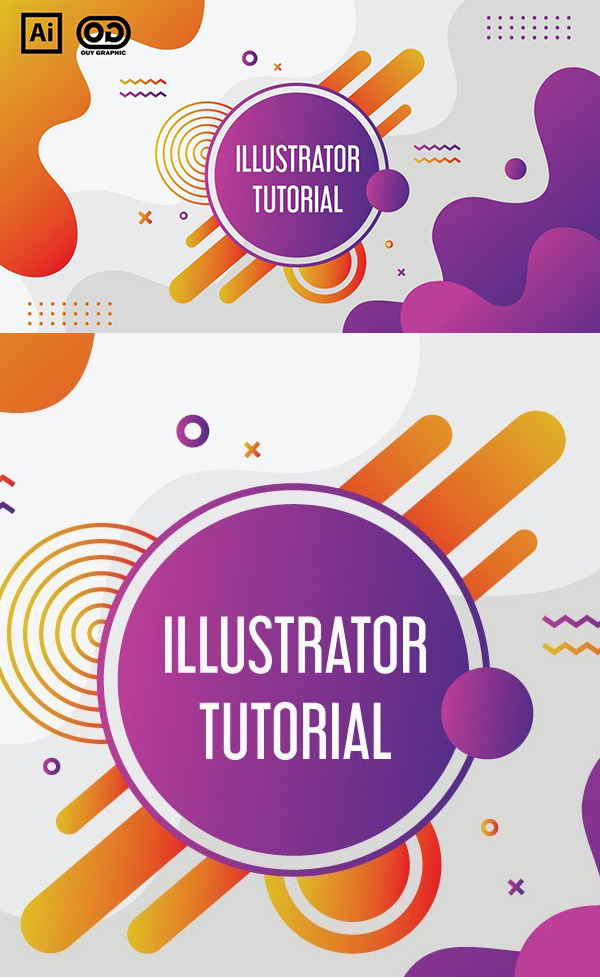 Create a colorful background in Adobe Illustrator