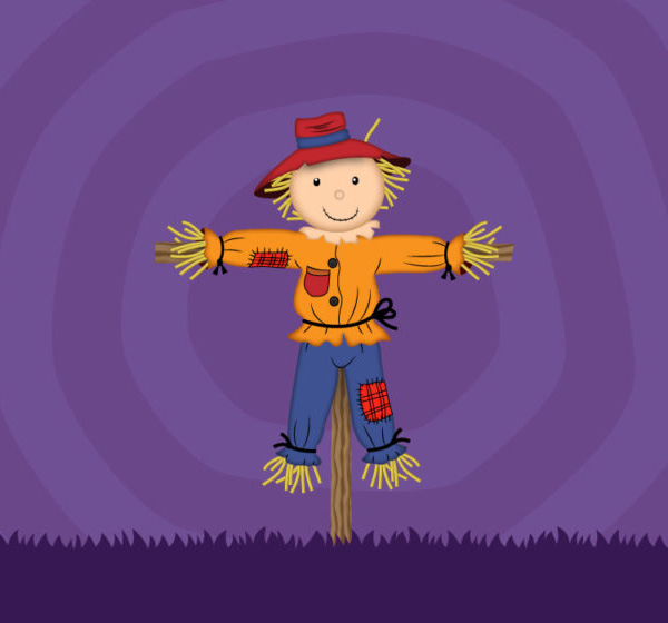 How to create a scarecrow illustration in Adobe Illustrator tutorial