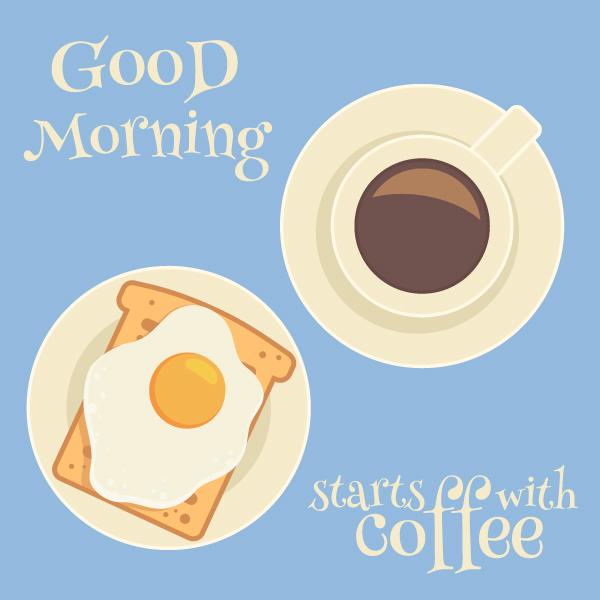 Draw delicious breakfast symbols in Adobe Illustrator