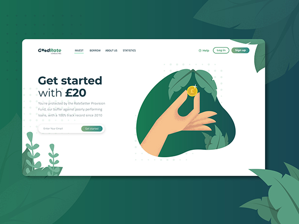 50 Modern Landing Page Design Concepts - 14