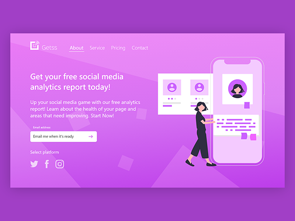 50 Modern Landing Page Design Concepts - 34