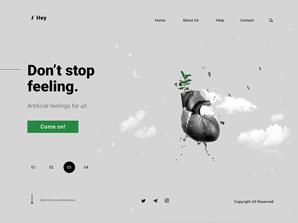 50 Modern Landing Page Design Concepts - 46