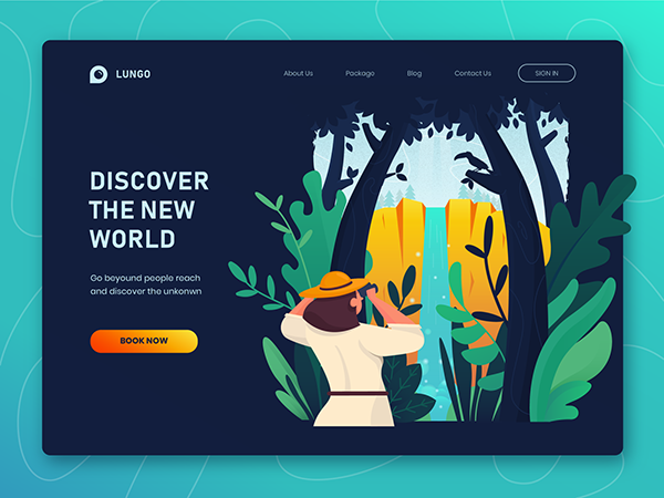 50 Modern Landing Page Design Concepts - 48