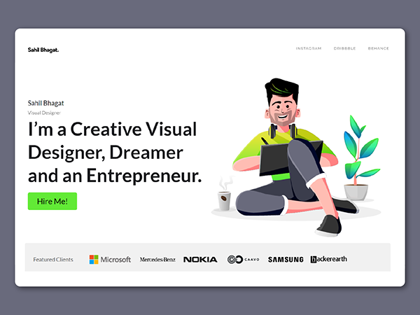 50 Modern Landing Page Design Concepts - 49