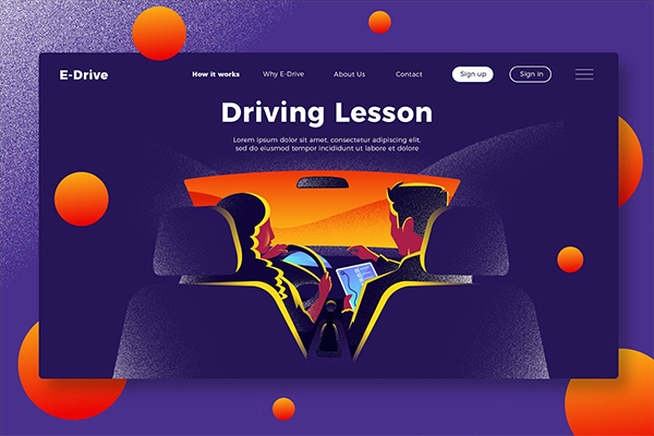 Driving School-Banner & Landing Page