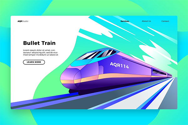 Bullet Train- Banner & Landing Page