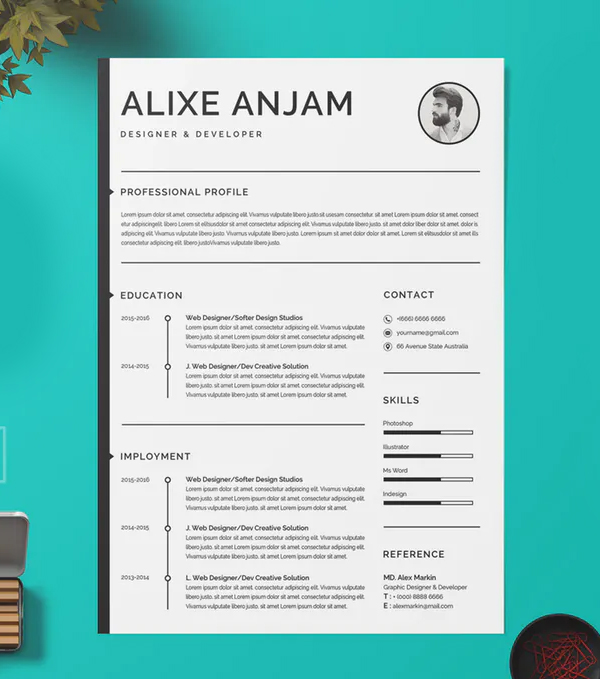 Clean your resume
