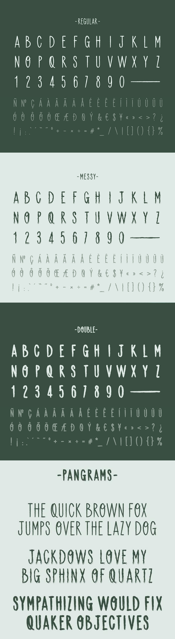 Backpacker Free Font Letters