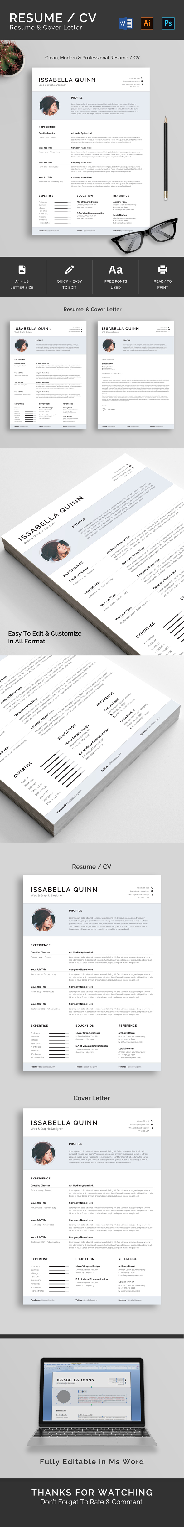 Modern & Professional Resume/CV Template
