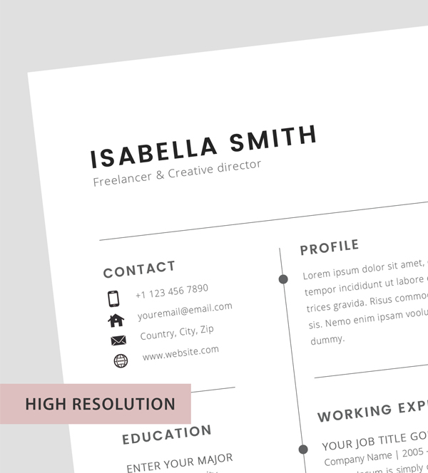 Free resume template 3 page - resume template - 1
