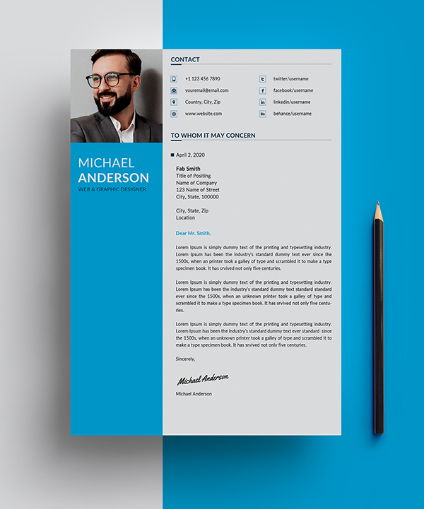 Free Resume + Cover Letter Templates (PSD) - 4