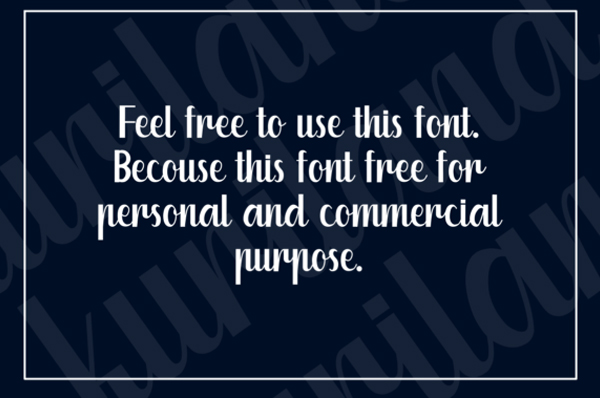 Kuriland Free Font Letters