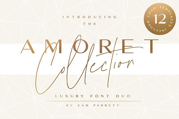 The Amoret Font Duo + 12 Logos