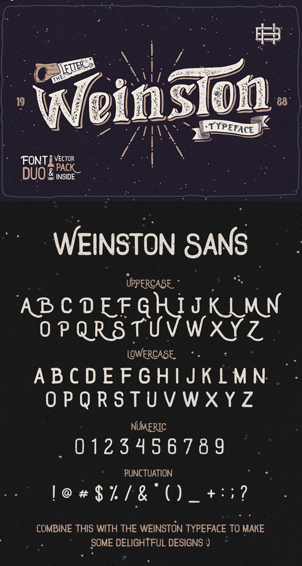 Weinston font + extras