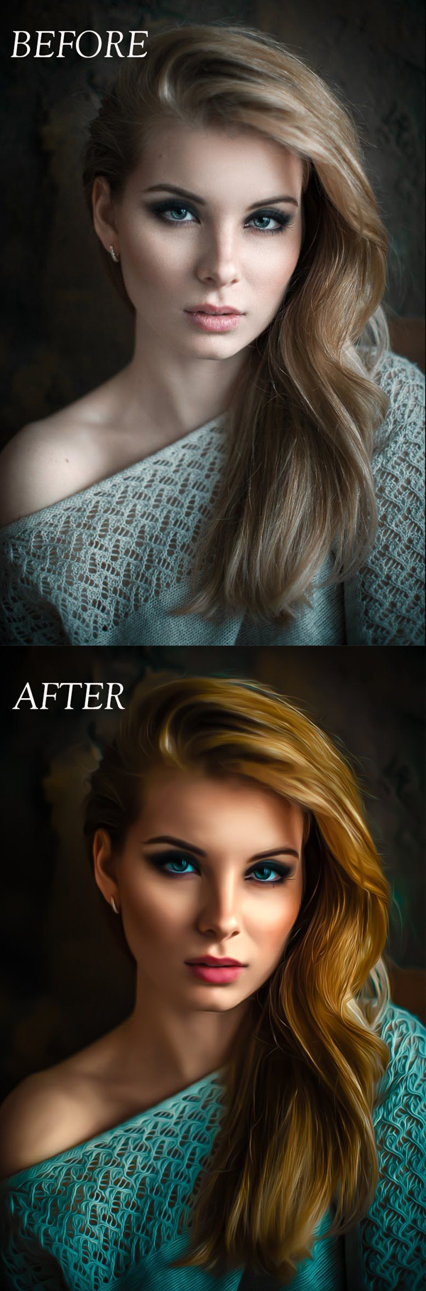 How to Create Oil Painting Smudge Photo Effect in Photoshop Tutorial