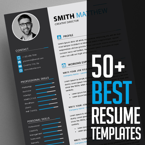 50+ Best CV Resume Templates 2020