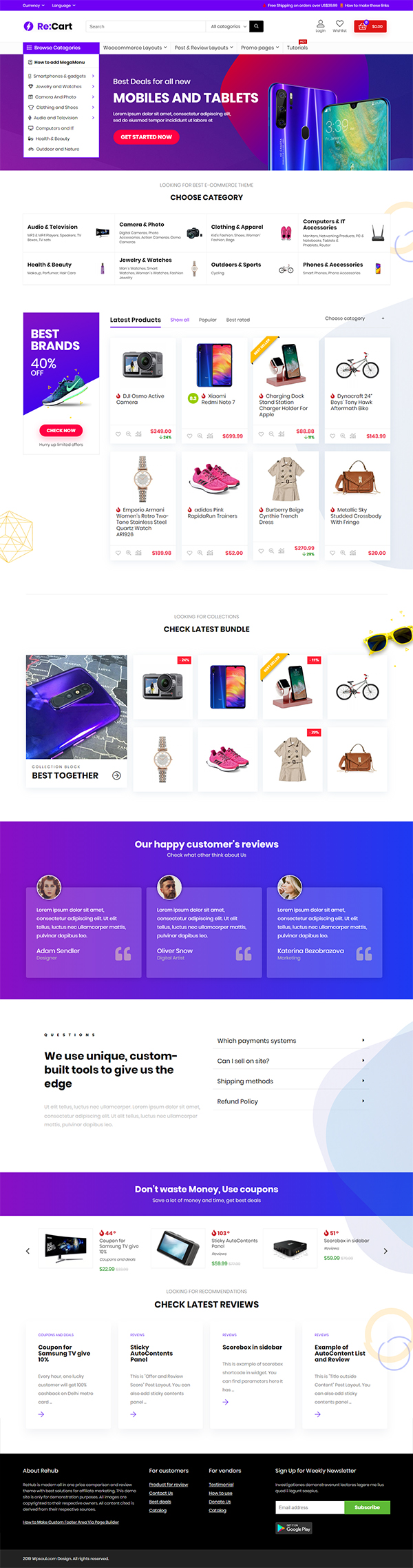 Multi Vendor Marketplace, Affiliate Marketing, Community Theme