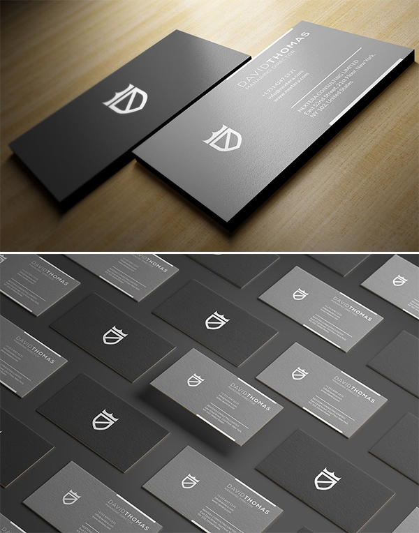 Minimal Grey Business Card