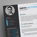 Post Thumbnail of Free CV Resume Templates + Cover Letter (PSD)
