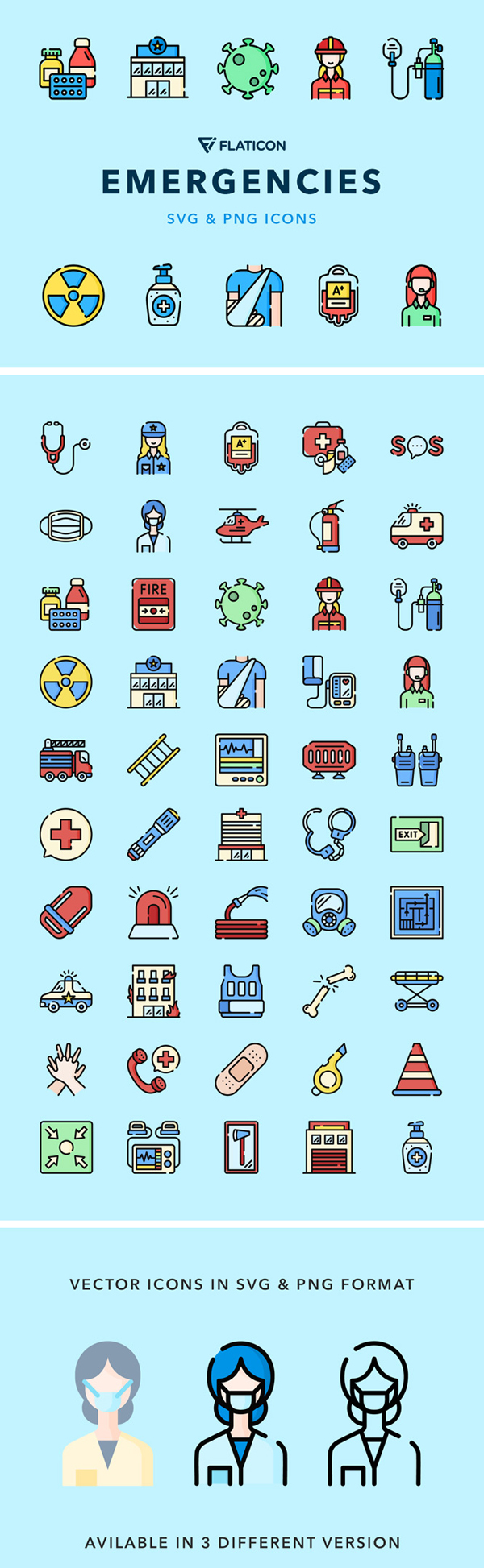 Free Emergencies Vector Icons Free Font