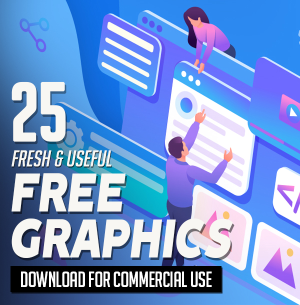 25 Fresh Free Graphics for Designers