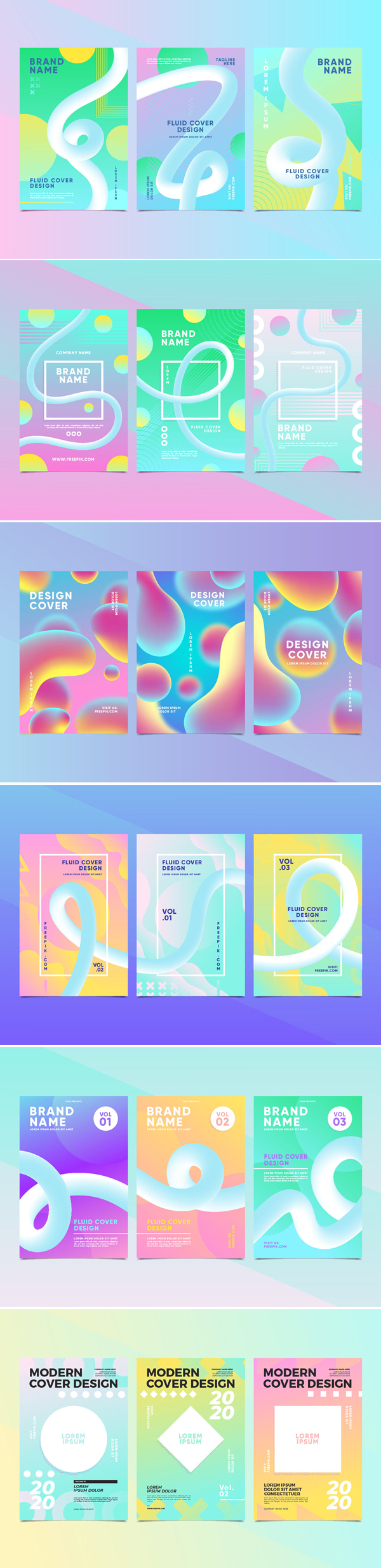 Free Abstract Cover Collection Free Font