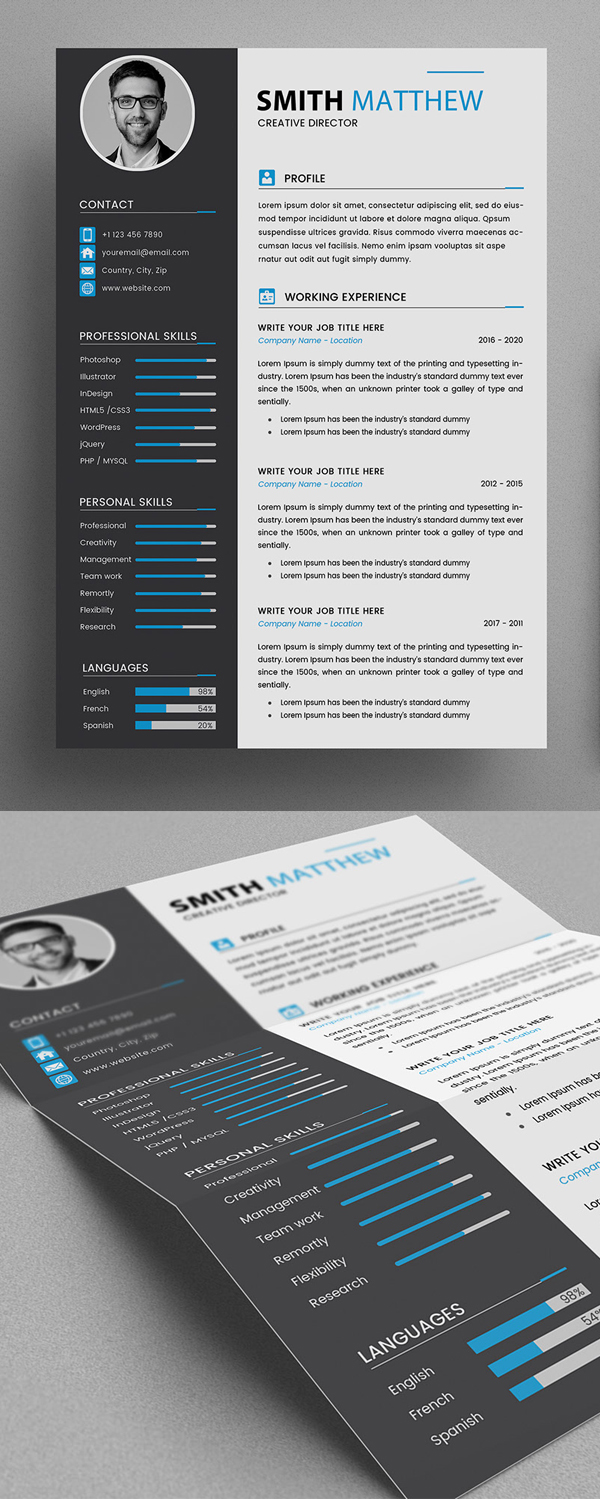 CV Resume Templates - Free Download Free Font