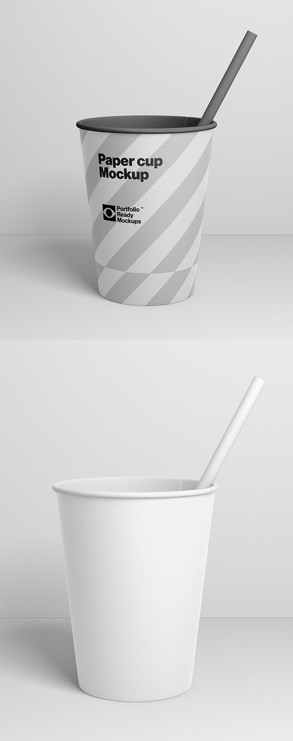 Free PSD Paper Cup mockup