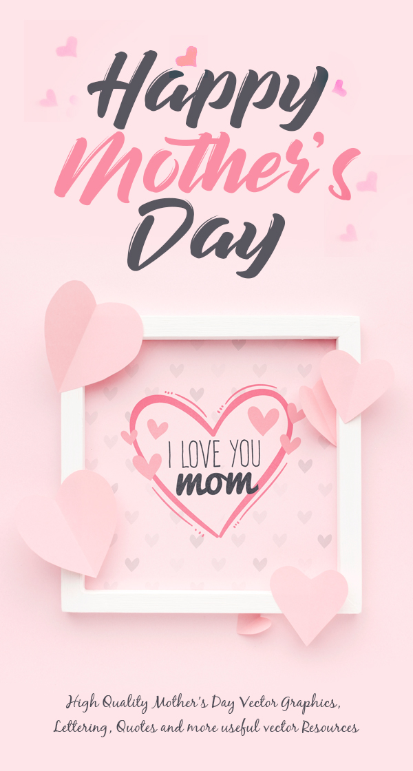 Mothers Day Vector Graphics for Designers