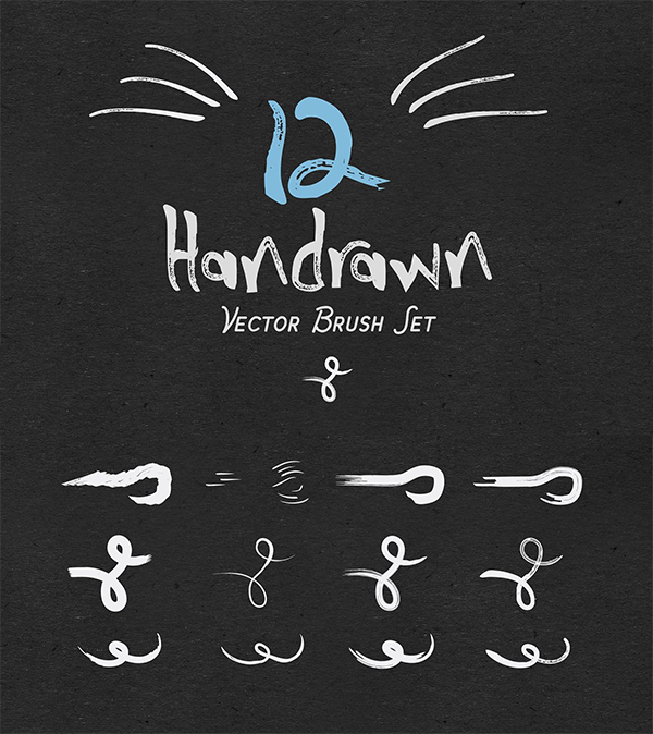 Hand Drawn Vector Brushes