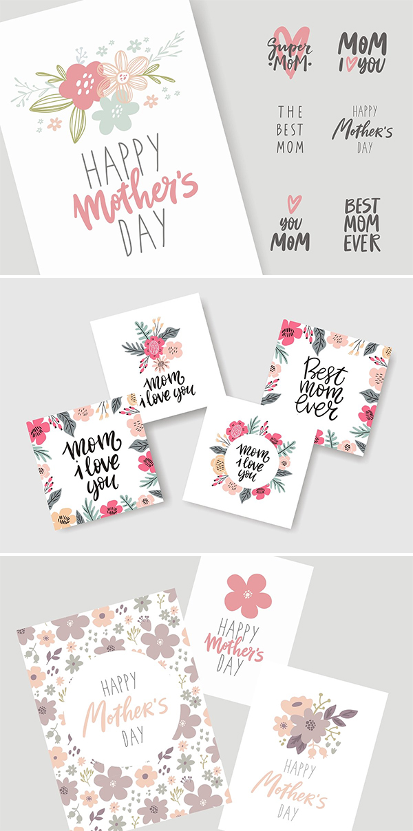 Creative Mother's Day Card Lettering