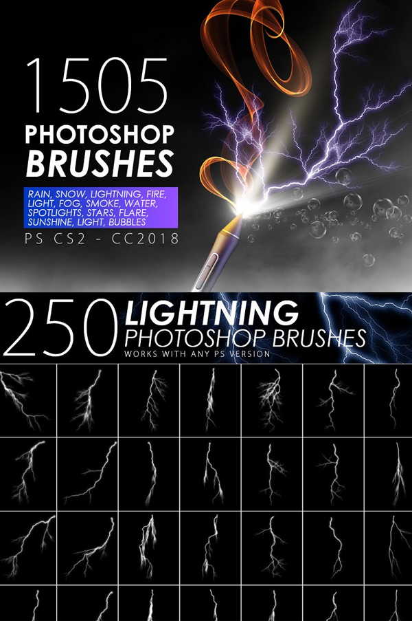 Visual Effect Photoshop Brushes