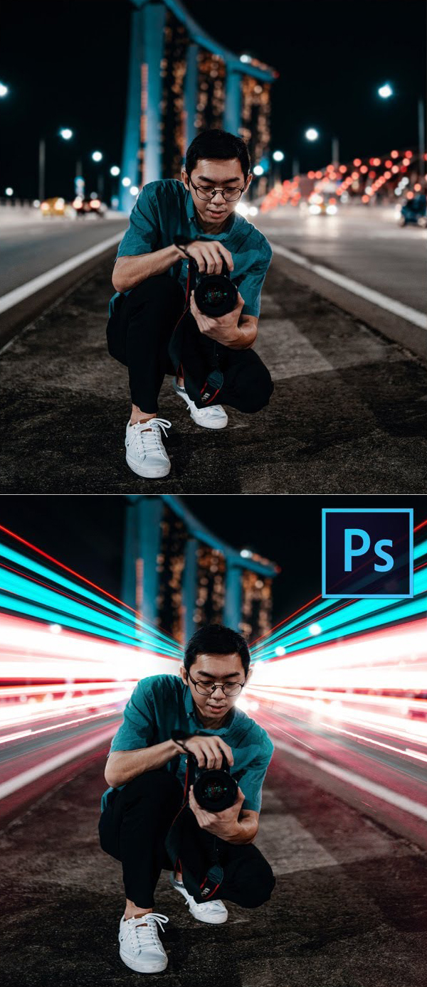 How to add a fake long exposure effect in the Photoshop tutorial