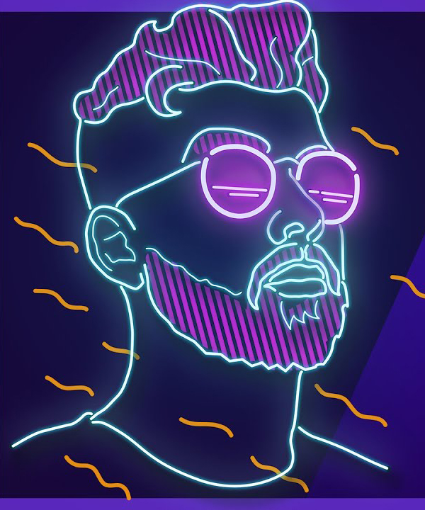 How to Make Stunning Neon Portrait Illustration using Photoshop Tutorial