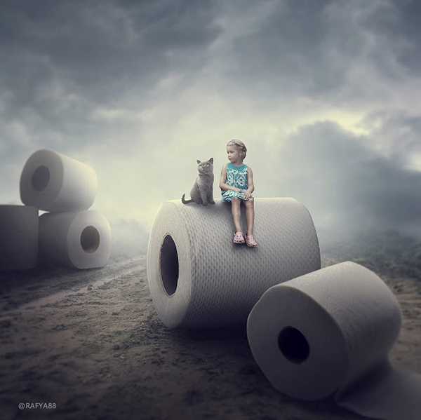 Amazing Tissue Roll Photo Manipulation Photoshop Tutorial Composite