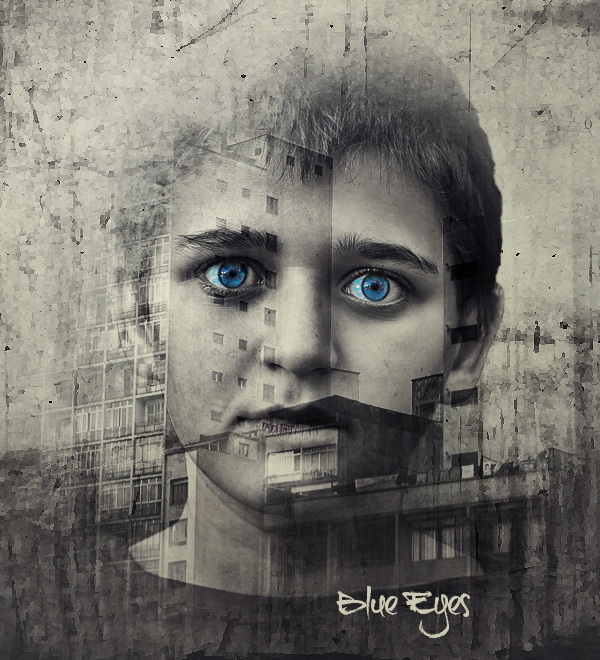 Blue Eyes Digital Art Photoshop Manipulation Tutorials