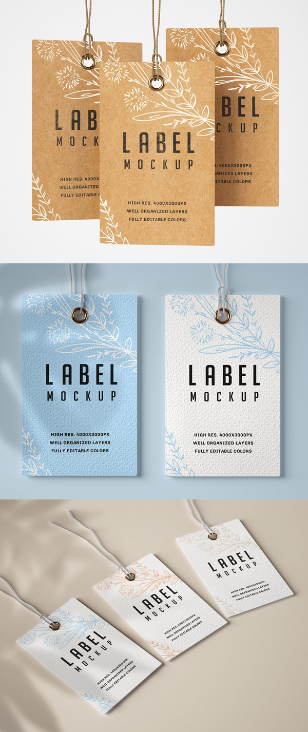Paper & Kraft Label Mockup Set