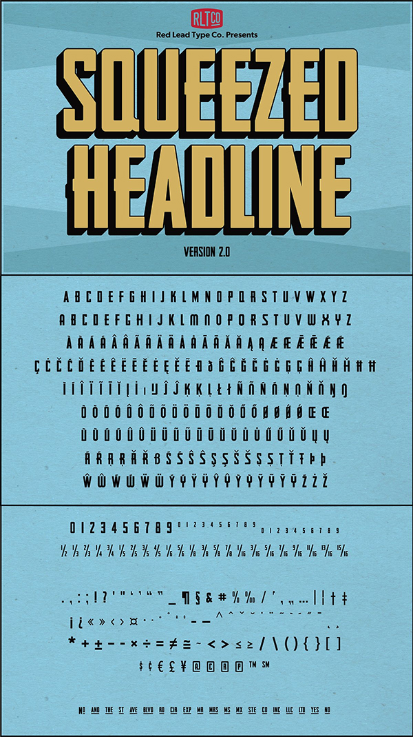 Squeezed Headline Font