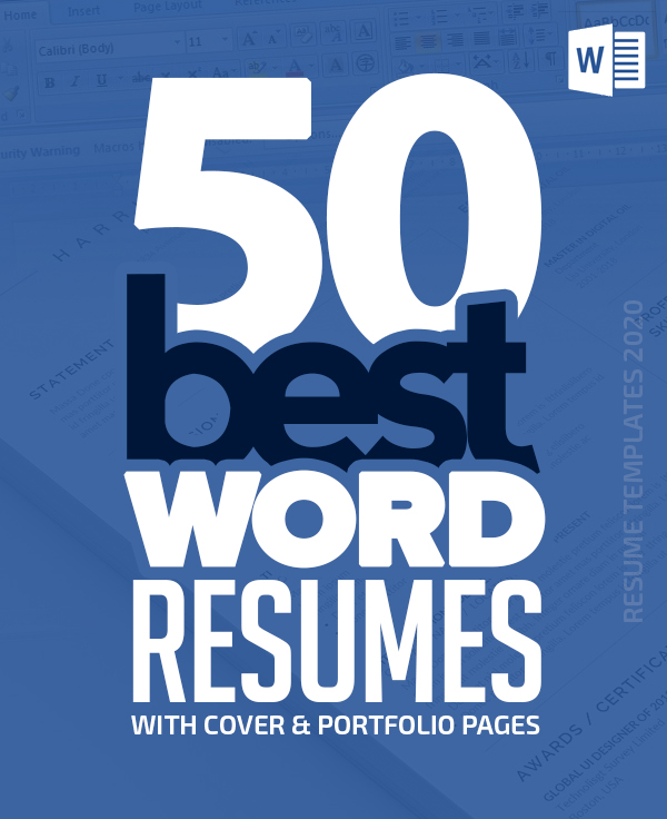 50 Best Word Resume Templates Of 2020