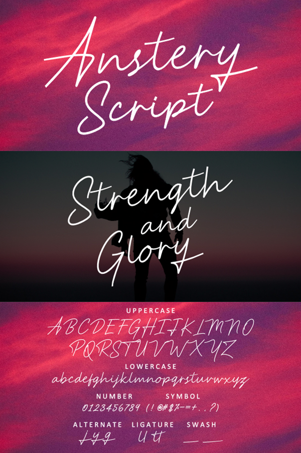 Anstery Script Free Font Free Font